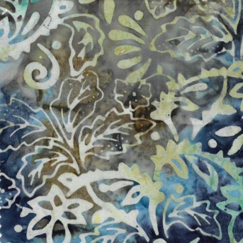 Tropical Jungle Leaves Flowers Floral Batik 100/% Cotton Fabric FF