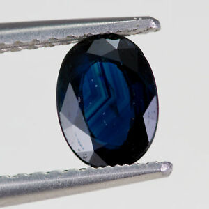 Sapphire 0.87ct. A deep blue, oval cut gem with no treatments other than heat