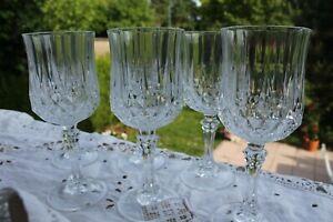 Détails sur Cristal d'Arques LONGCHAMP 6 verres à Vin Vintage