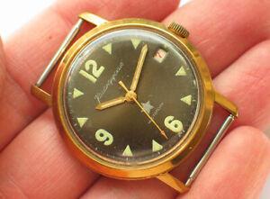 Seltene-Soviet-Vostok-KOMANDIRSKIE-Military-Watch-gelegentlich-Grau-Zifferblatt-Zakaz-MO-USSR