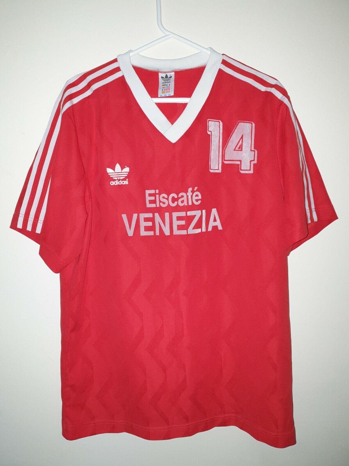 Adidas vintage 1980'S handball shirt 80's retro #14 jersey trefoil Bulgaria (XL)