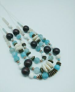 MULTI-STRAND-BOHO-GEMSTONE-STATEMENT-NECKLACE