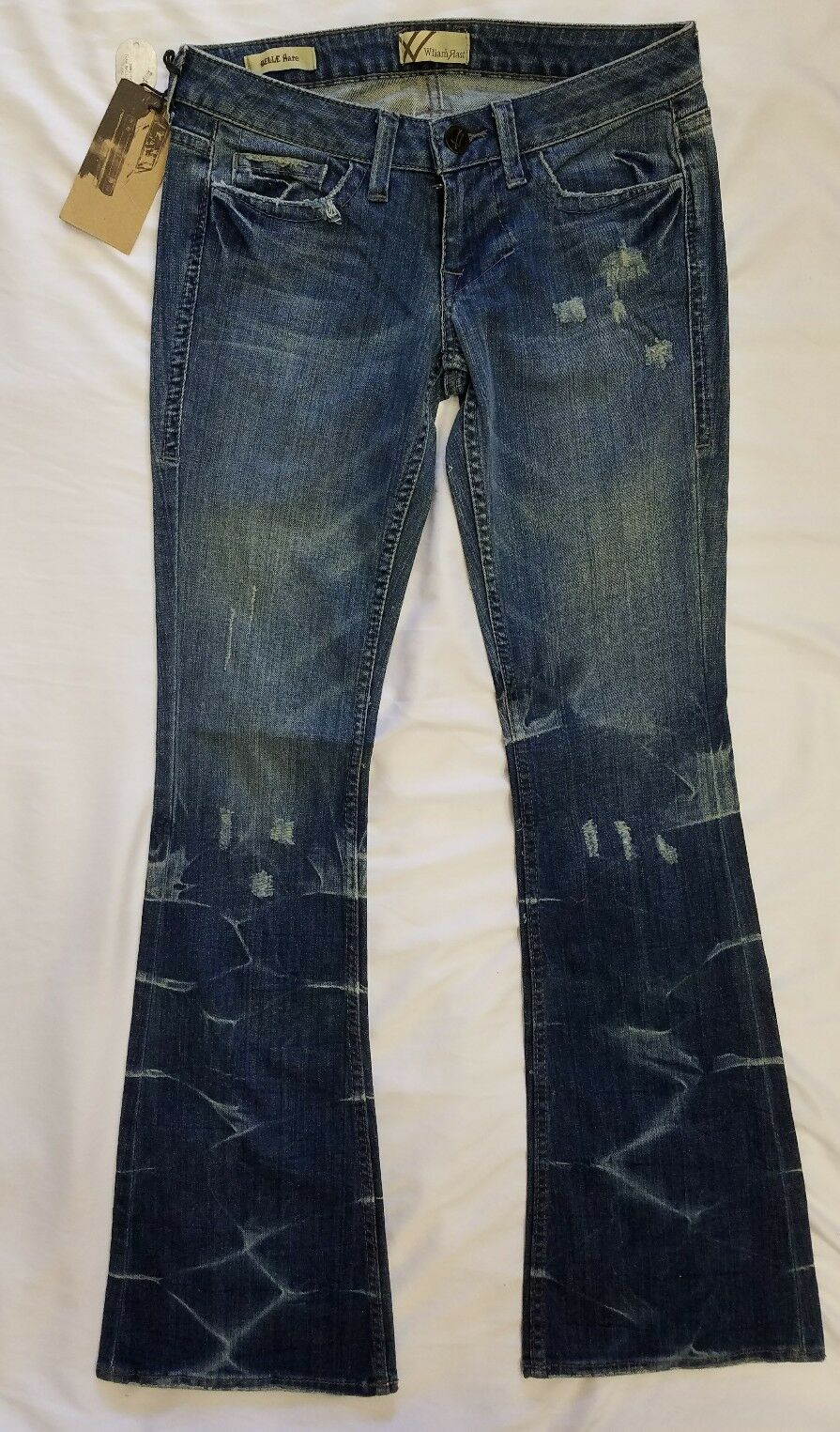 NWTWilliam Rast Women's Belle Flare Jeans In Pony Tail Size 26 MSRP  200