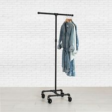 Industrial Pipe Rolling Clothing Rack 2 Way By William Roberts Vintage