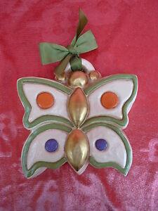 Beautiful-Ceramic-Figure-Aufhangfigur-Butterfly-THUN