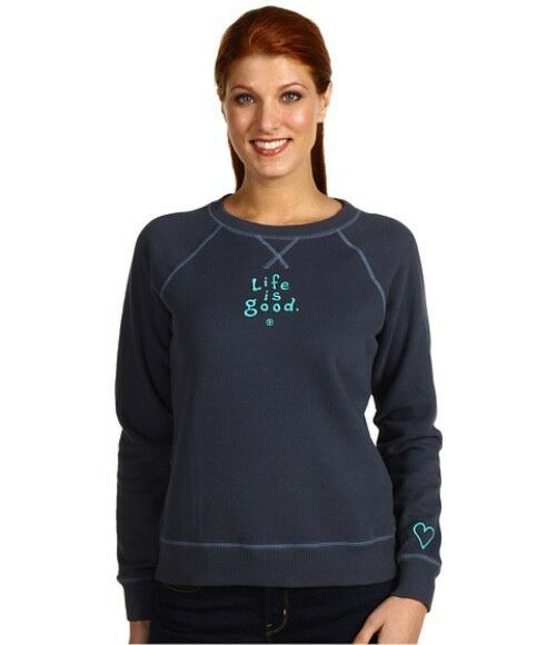 Life is good Women's Softwash Crew LIG True bluee bluee bluee XS. New.  46. 66432d