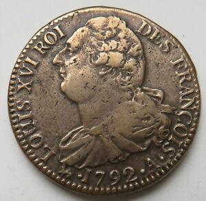 Frankreich-France-Louis-XVI-2-Sols-1792-A-Paris