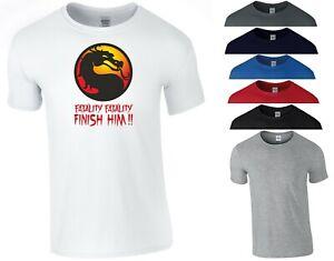 T-shirt Mortal Kombat rossa