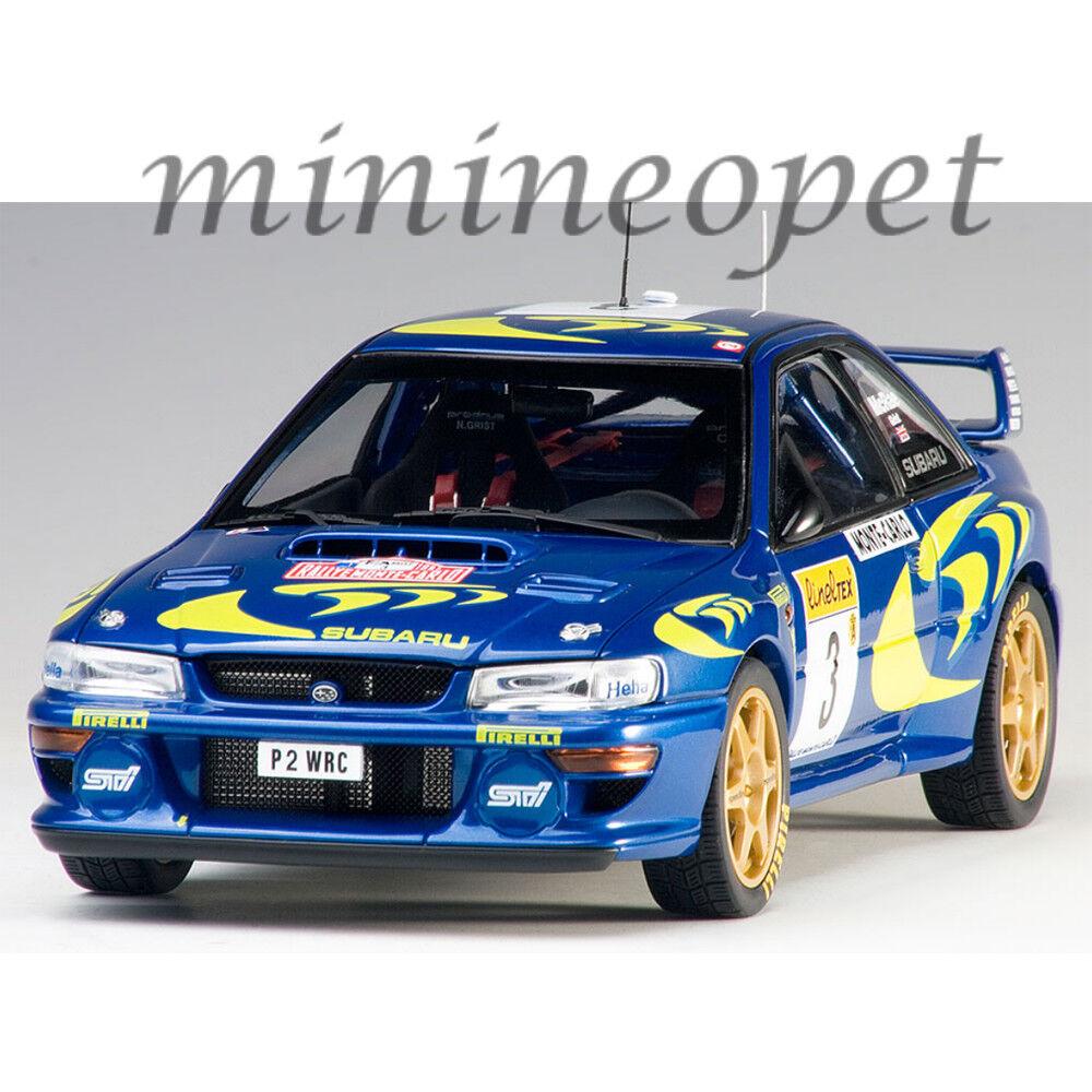 AUTOART 89790 Subaru Impreza Wrc 1997  3 RALLYE DE MONTE CARLO 1 18 Modèle Bleu