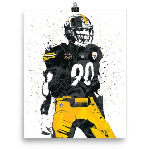 TJ Watt Pittsburgh Steelers Poster FREE US SHIPPING
