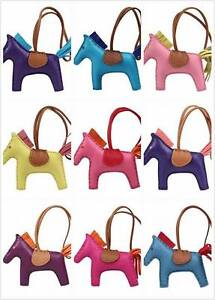Image is loading Real-genuine-leather-Rodeo-Horse-Pony-bag-charm- 4afce20bd2