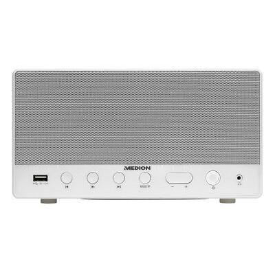 MEDION LIFE P61071 MD 43035 Multiroom Lautsprecher WLAN USB AUX Subwoofer weiß