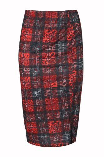 Ladies Elastic High Waist Womens Wiggle Pencil Tube Bodycon Midi Skirt Plus Size