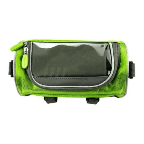 MTB Bike Handlebar Bags Bicycle Moblie Phone Touch Screen Front Tube Storage Bag