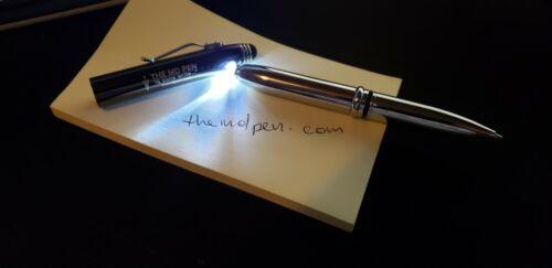 phone Stylus LED Light Black ink THE MD PEN Chrome//Black Finish Tablet
