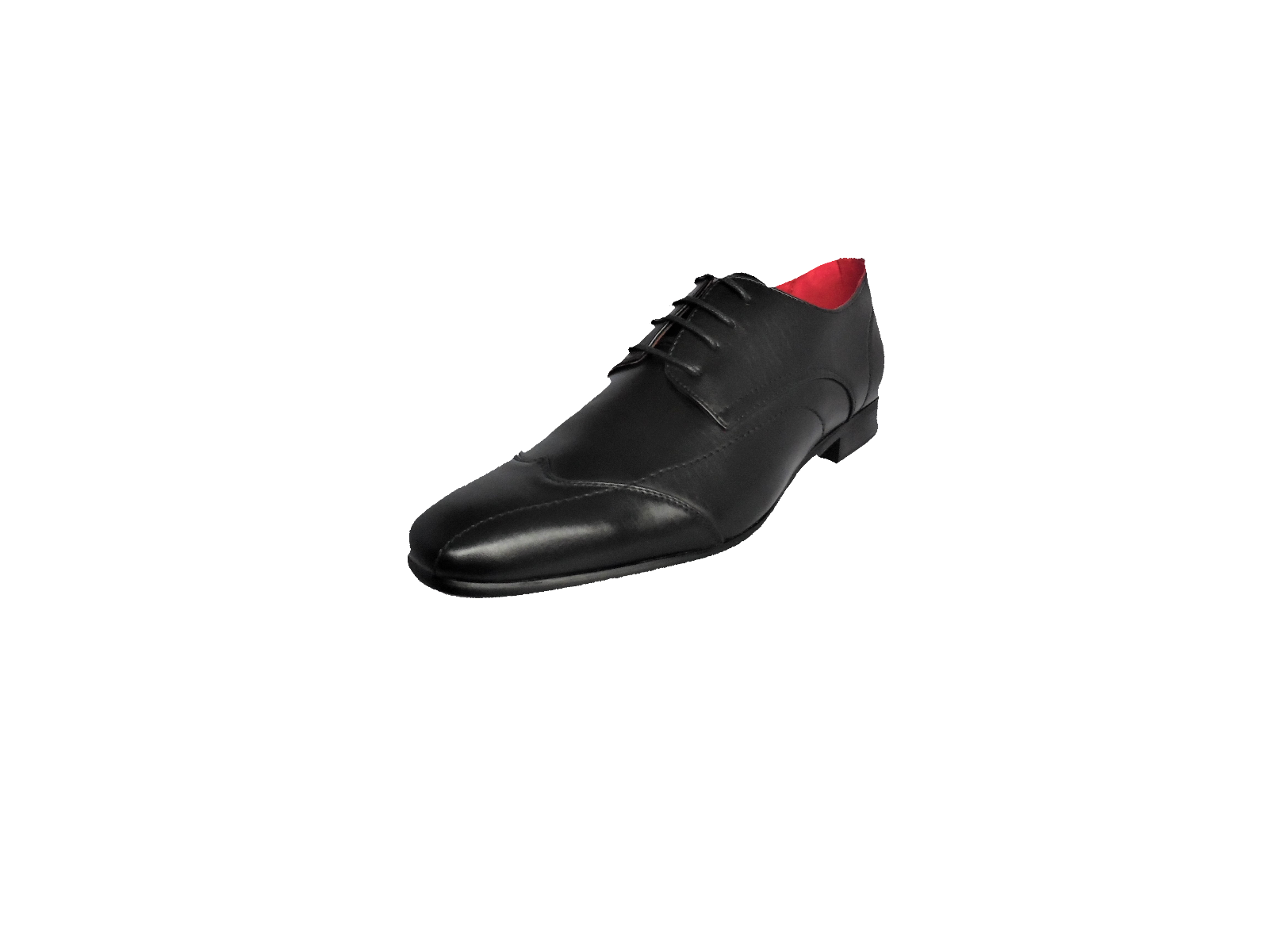 N1110 BOYS JCDEES BLACK PATENT FORMAL SMART LACE UP FASTENING SMART SCHOOL SHOES