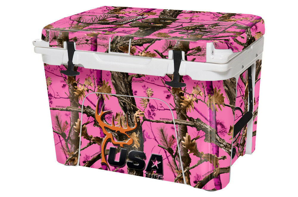 USATuff Custom Cooler Wrap Decal fits YETI Roadie 20qt FULL Pk Tree Camo