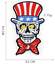 miniature 8 - PIRATE SKULL Embroidered Biker Patches Skeleton Iron / Sew on Badges Grim Reaper
