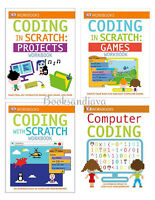 Dk Coding Workbooks Computer Coding, Coding With Scratch, Projects,games 4 Books