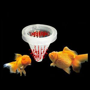 Aquarium-Basket-Feeder-Fish-Food-Live-Worm-Bloodworm-Cone-Feed-Tool-DSUK