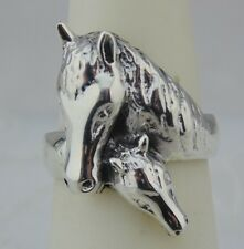 Mother & Baby Horse Ring Size 8 Western Antiqued 925 Sterling Silver New