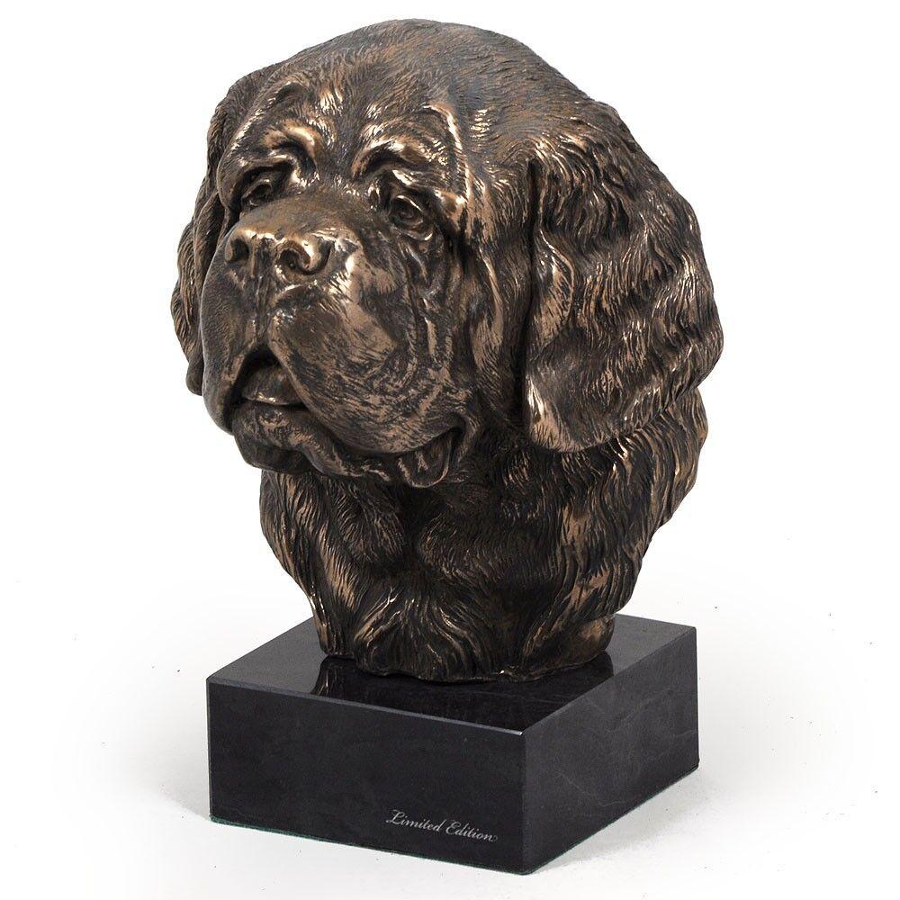 St. Bernard  dog dog dog figurine on the marble base, high quality Art Dog 34723f
