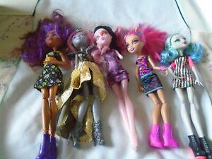 Monster-High-Dolls-Lot-of-5