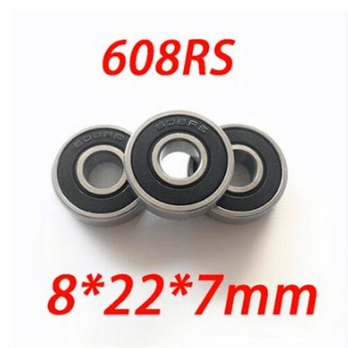 2//5//10 Pcs 8x22x7mm 608RS Metal Shielded Ball Bearing Bearings
