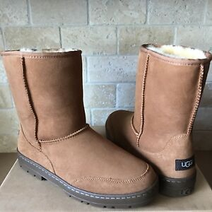 timeless design 74588 32d67 Details about UGG ULTRA SHORT REVIVAL CHESTNUT WATER-RESISTANT SUEDE FUR  BOOTS SIZE 6 WOMENS