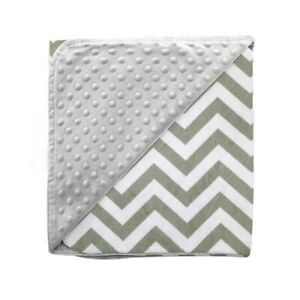 Minky Blanket Baby Boy Girl Newborn Soft New Gray White Geometric 100x70 Infant