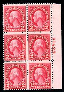 USAstamps-Unused-VF-US-Washington-Fresh-Vertical-Plate-Block-Scott-634-OG-MNH