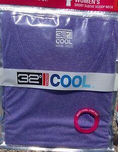 Women's 32 Degrees cool gear Short Sleeve cool T-Shirt MEDIUM ...