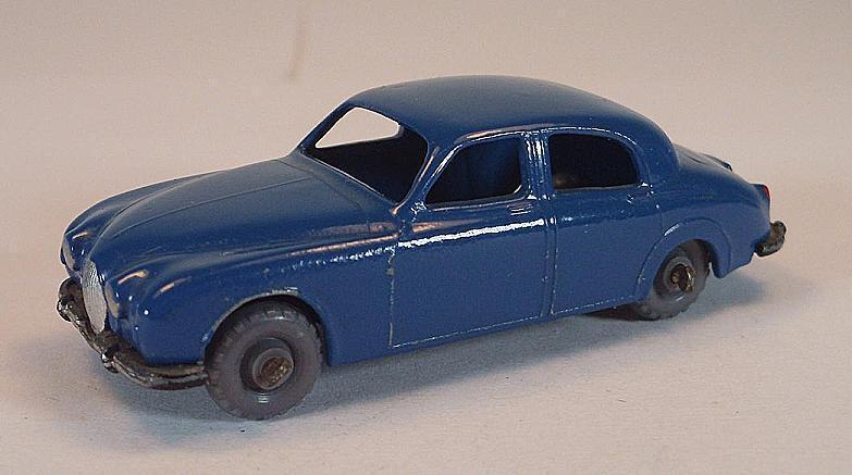 Matchbox Regular Wheels Nr. 65 A Jaguar 3.4 Litre Saloon bluee GPW Lesney 2