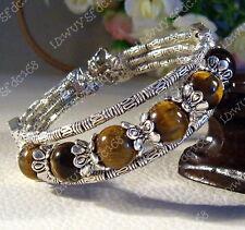 Hot Sale! Tibetan Tibet Silver Tiger Eye Gemstone Bracelet Bangle A5096