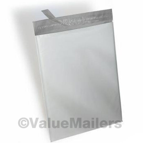 POLY MAILERS 500  - 7.5x10.5 WHITE ENVELOPES BAGS