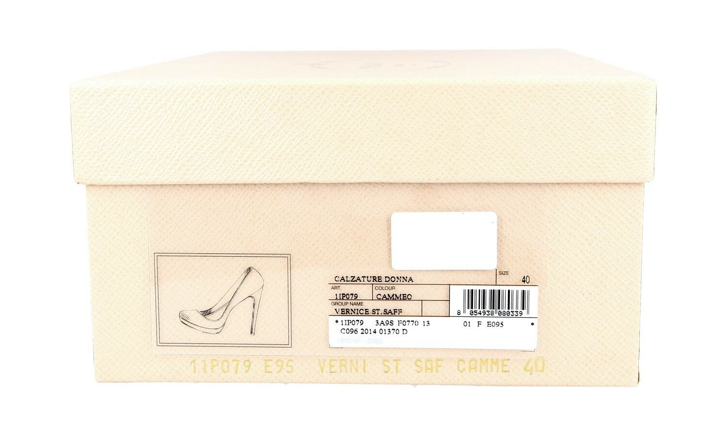 LUXUS PRADA SAFFIANO PUMPS SCHUHE SCHUHE SCHUHE 1IP079 CAMMEO NEU NEW 40 40,5 UK 7 54dfb6
