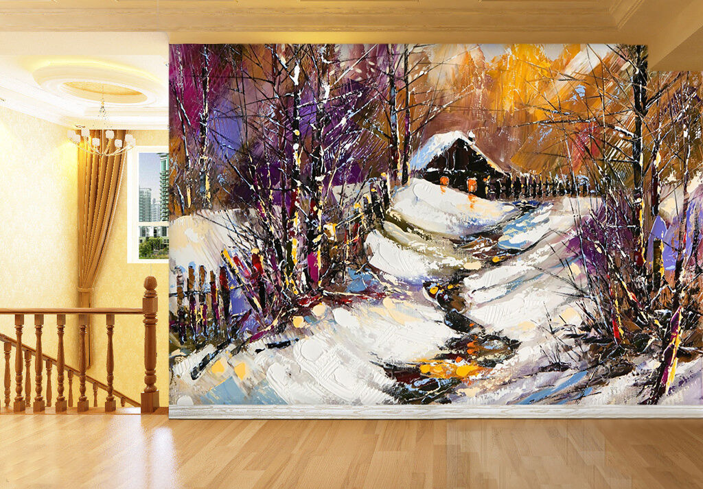 3D Snow, home 235 Wall Paper Print Wall Decal Deco Indoor Wall Murals