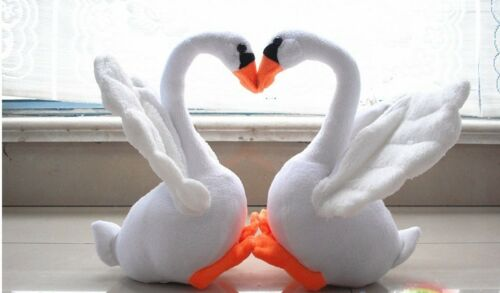 White Cute Swan Plush Toy And Little Swan Soft Animals Stuffed Doll Kid/'s Gifts