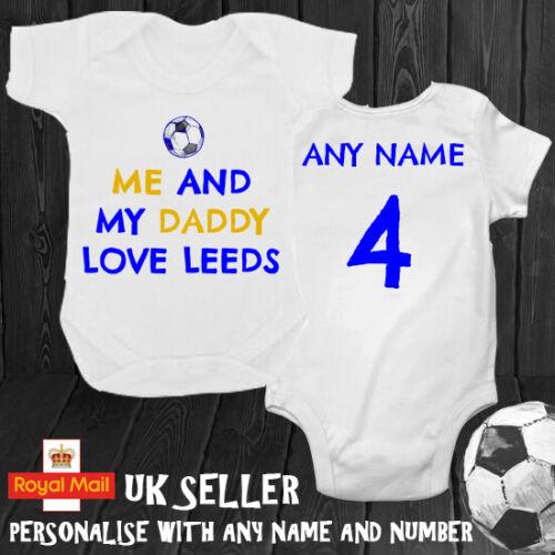 Leeds Daddy Grandad Personalised Babygrow Romper