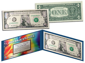 DAZZLING-SILVER-CLOUDS-HOLOGRAM-Legal-Tender-US-1-Bill-Currency-Limited-Edition