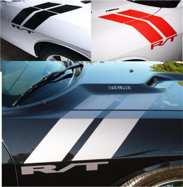 Dodge Challenger R/T 2005 to 2017 Hood, Fender, HASH Stripes Universal Graphics