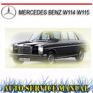 Mercedes benz w114 w115 service repair manual 114 115   ebay.