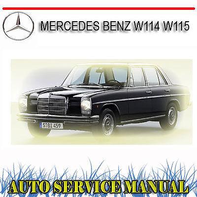 mercedes benz w114 w115 service repair manual dvd ebay rh ebay com au Mercedes W114 Parts Mercedes-Benz W125