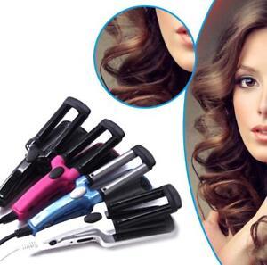 3-Barrel-Ceramic-Hair-Crimper-Curler-Curling-Iron-Tong-Waving-Wand-Roller-Salon