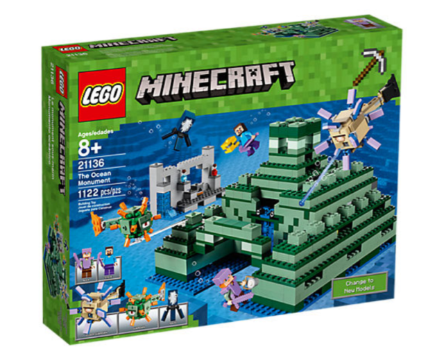 Free Shipping 21136 Lego Minecraft The Ocean Monument