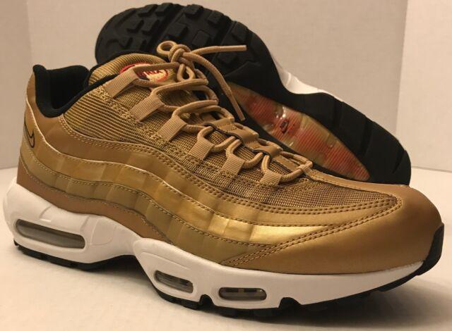 Nike Air Max 95 Premium Metallic Gold Sneakers Size 11 100
