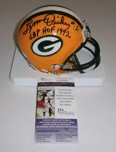 PACKERS-Lynn-Dickey-signed-mini-helmet-w-GBP-HOF-1992-JSA-COA-AUTO-Autographed