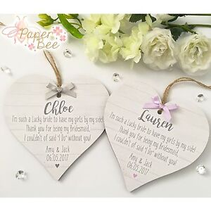 Image Is Loading Bridesmaid Quote Wedding Thank You Gift Personalised Plaque