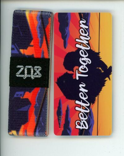 Details about  /Small ZOX Silver Strap BETTER TOGETHER Wristband with Card Reversible