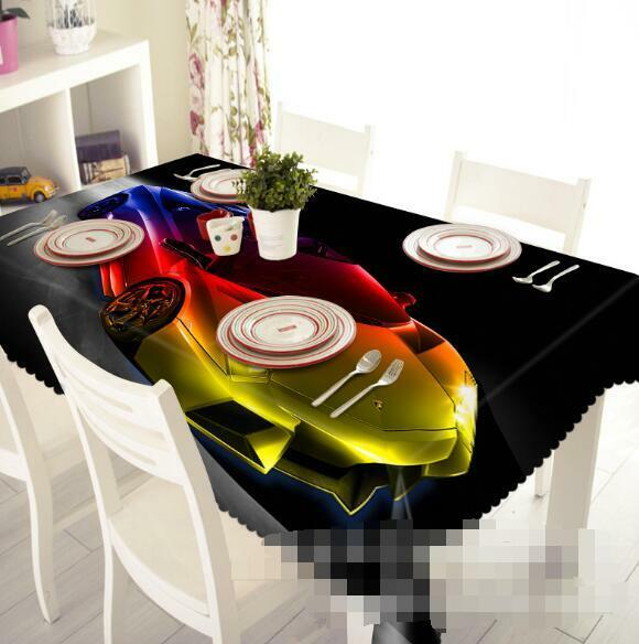 3D Cool Car 200 Tablecloth Table Cover Cloth Birthday Party Event AJ WALLPAPER